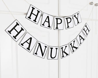 FREE SHIPPING, Happy Hanukkah banner, Hanukkah sign, Happy Hanukkah garland, Hanukkah decoration, Hanukkah photo prop, Party decorations
