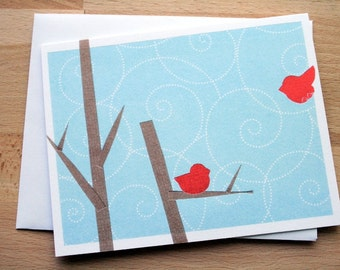 CARD: Welcome Home - Red Bird Coming Home