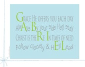 Personalized Baby Christening Gifts Baptism Gifts Baby Gift For Boys Nursery Art Personalized Name Poem Kids Room , 8x10, Gabriel