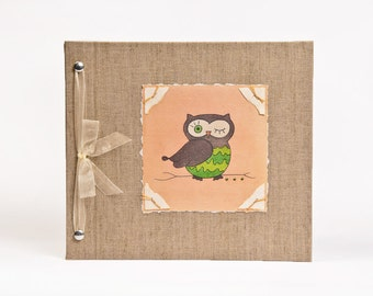 Baby Book - Baby Memory Book - Neutral, Unisex, Owl, Baby Album - Owl Baby Memory Book - Hugs and Kisses XO Baby Memory Book
