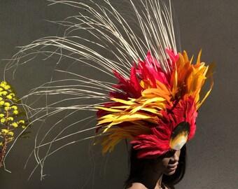Fire feather headdress