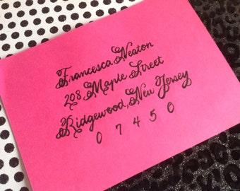 FRANCESCA : Custom Wedding Calligraphy Envelope Addressing Monsieur la Doulaise