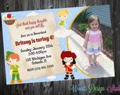 Custom Peter Pan Inspired Birthday Party Invitations - DIY Printable File