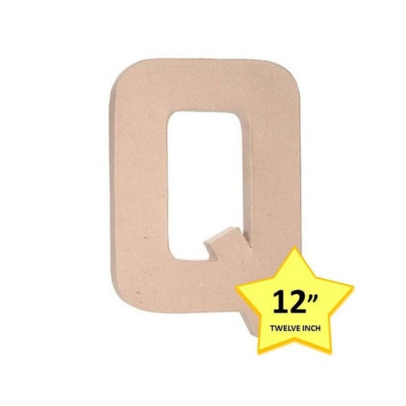 paper mache cardboard letters 12 inch letter q paper With 18 inch paper mache letters