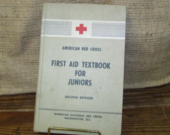 Junior First Aid Textbook First Aid for Juniors Book American Red Cross First Aid Book