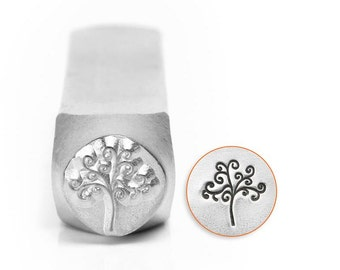 6mm TREE OF LIFE Stamp, ImpressArt Tree of Life / Nature / Halloween, stamps, Metal Stamps, metal stamping tools