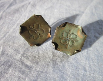 Antique Craftmaid copper screw back Earrings