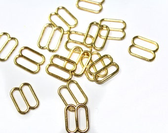 100 PCS Gold / Silver Sliders for Bra