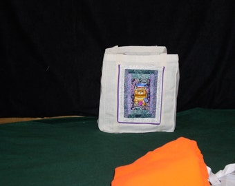 OOAK quilted pocket tote bag(6)