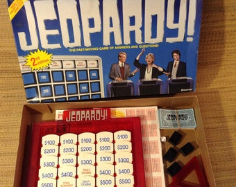 Vintage Jeopardy 2nd Edition Game #5454, 1987, Complete and used very little. Pressman