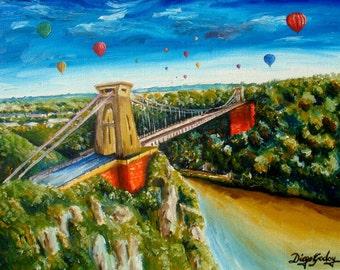 Clifton Suspension Bridge and Balloon Fiesta Print