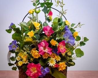 Petunia and Rose Wall Basket - SA703F