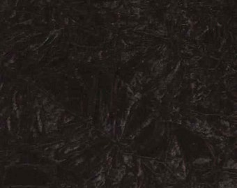 Black Velvet Hammered Fabric 4 Way Stretch By the Yard