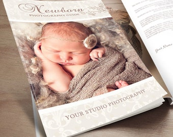 Newborn Photography Magazine Template - Client Welcome Guide - INSTANT DOWNLOAD ID216