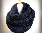 MARENGO GREY (Or Choose Color) infinity scarf / cowl -- wool blend, chunky, fashion accessories, gray - gift