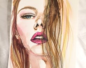 Three costum fashion beauty illustrations - reserved for Olivia