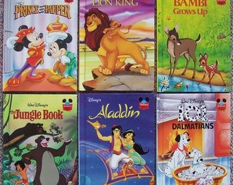 Disney's Wonderful World of Reading - Lot of 12 Walt Disney Children's Books - Lion King, Jungle Book, Aladdin, Prince and the Pauper