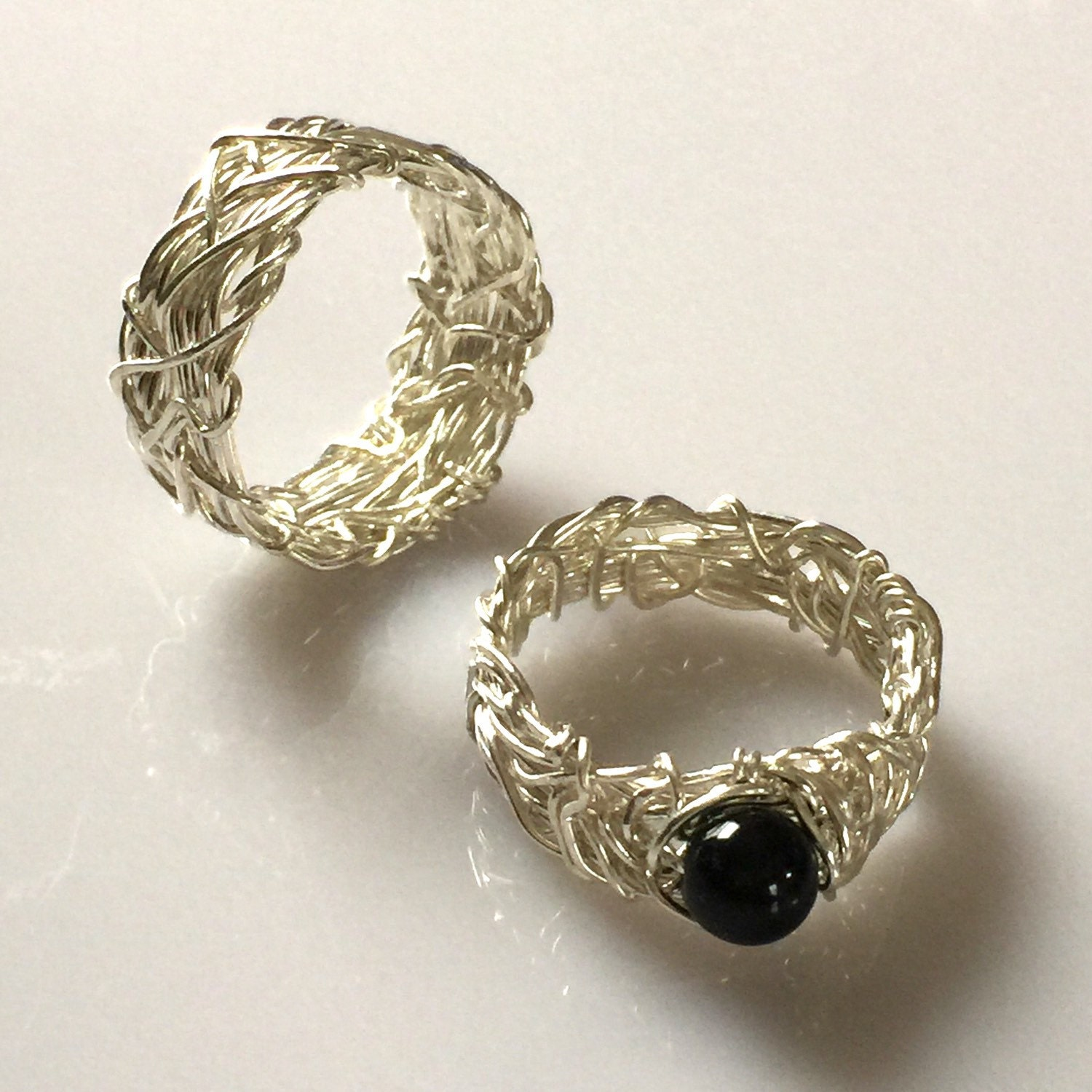 rings matching gothic his ring il bands and set fullxfull yx engagement unique wedding hers