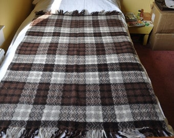Vintage Morven Tweed 100% Virgin Wool \Handwoven Rug/Blanket/Throw made in Scotland