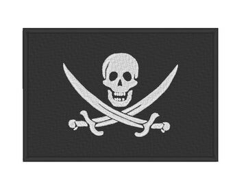 Pirate Flag Jolly Roger Calico Jack Embroidery Design