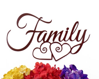 Family Metal Wall Art family metal sign   etsy