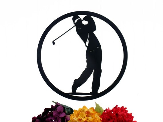 Metal Golf Wall Decor : Golfer metal wall art gift golf