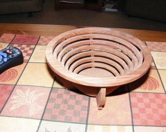 Wooden Walnut Bowl / Basket