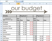 Budget Spreadsheet - 12 Months - Instant Download