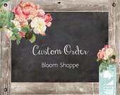 CUSTOM ORDER: Bridal Shower Mason Jars reserved for Karen