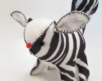 Squirrel - Zebra print