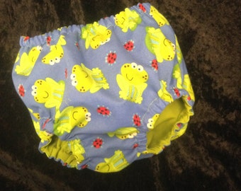 CLEARANCE!!!! BOYS DIAPER cover...Froggy diaper cover, frog and ladybug boys diaper cover