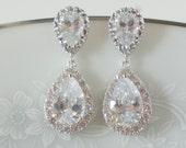 Crystal Bridal Earrings Wedding Jewelry Swarovski Crystal Wedding Earrings Gold Bridal Earrings Bridal Jewelry Crystal Drop