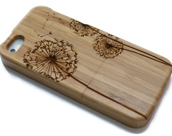 Iphone 7 case wood - wooden iphone 7 case walnut, cherry or bamboo wood - Dandelion
