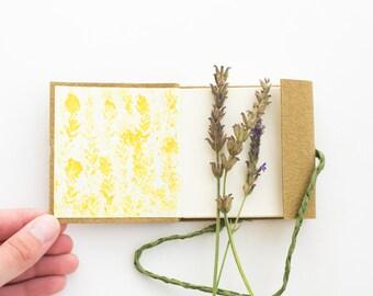 Mini Blank Sketchbook // Journal - Brown Pocket-sized Notebook - Eco friendly nature journal