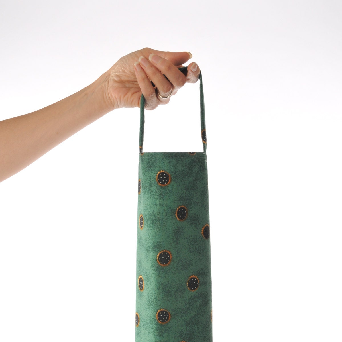 Plastic bag dispenser grocery holder debbie mumm green