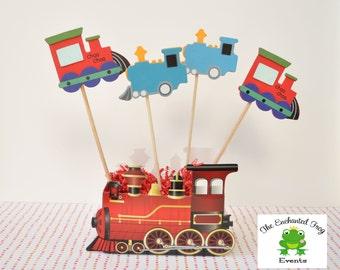 Train Party Centerpiece Decoration, Train Baby Shower, Train Birthday Party, Train Party Decor Train First Birthday