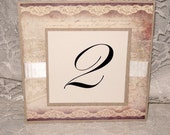 Vintage Style Table Numbers Claudine French Elegant Design Luxury Wedding Original Design
