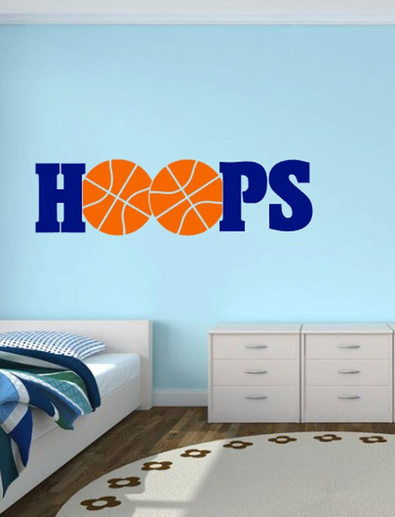 Items similar to basketball hoops wall decal basketball for Basketball hoop for kids room