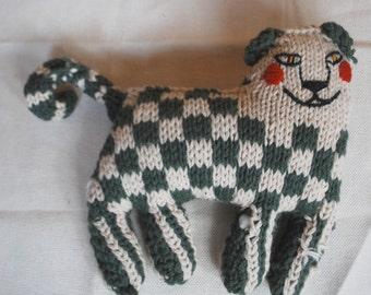 hand knitted cat pillow