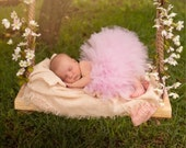 Newborn Photography Swing, Natural Pine Wood