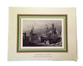 Vintage Prints, The Cathedral at Palermo, Italy Italy Magazine, from Original 16th Century Engravings of Italian Landmarks, Italian History,