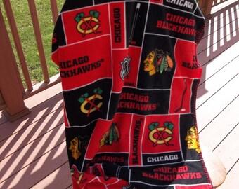 Chicago Blackhawks Fleece Throw