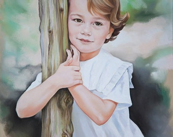 Pastel portrait, Custom child portrait,