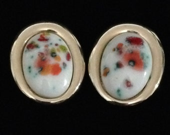 Vintage Bergere Floral Earrings