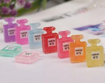 15pcs Glitter Perfume Bottle Cabochon resin decoden