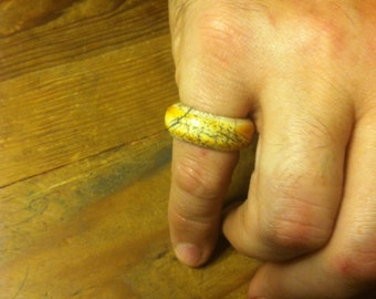 Hand carved bone ring