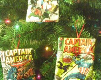 Marvel Captain America Comic Book Ornaments 2