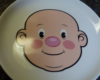 Fred Plays with His Food by Jason Amendolara 8.5 inch Plate Boys Face