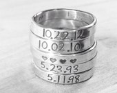 LOVE BAND...Sterling silver handmade artisan personalized custom band or stack ring