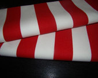 red and white canopy table runner